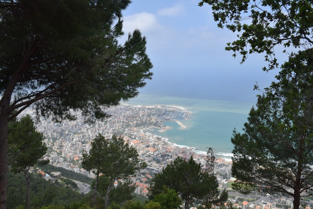 Lebanon, panoramic, Beirut, Our Lady of Lebanon, Harissa, view, Jounieh, Mediterranean Sea