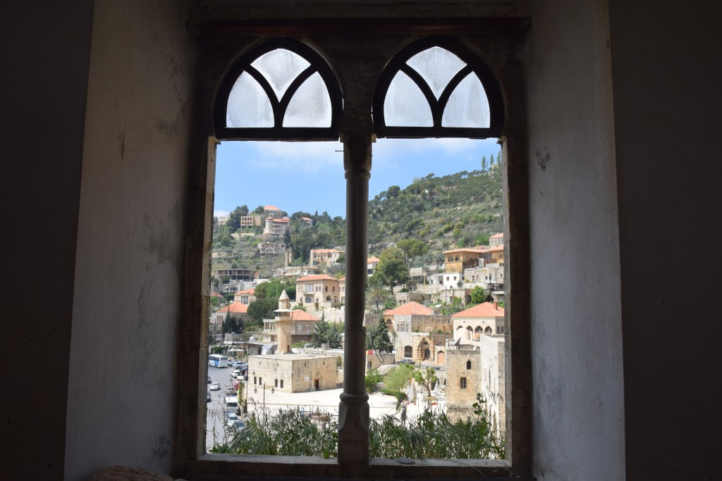 Deir El Qamar, Chouf Valley, Lebanon, windows, view, village