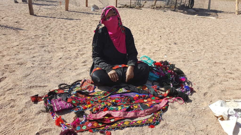 bedouin woman, Egypt, sinai trail, hiking, village, artefacts, beads