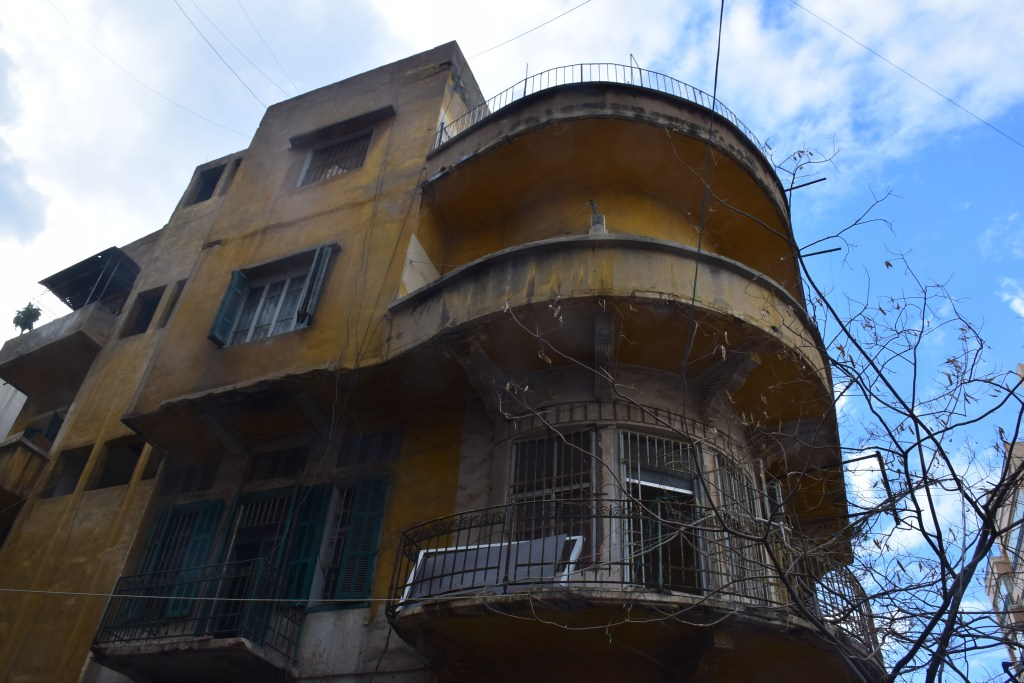 Beirut, Lebanon, architecture, old buildings, rotunda, balcony