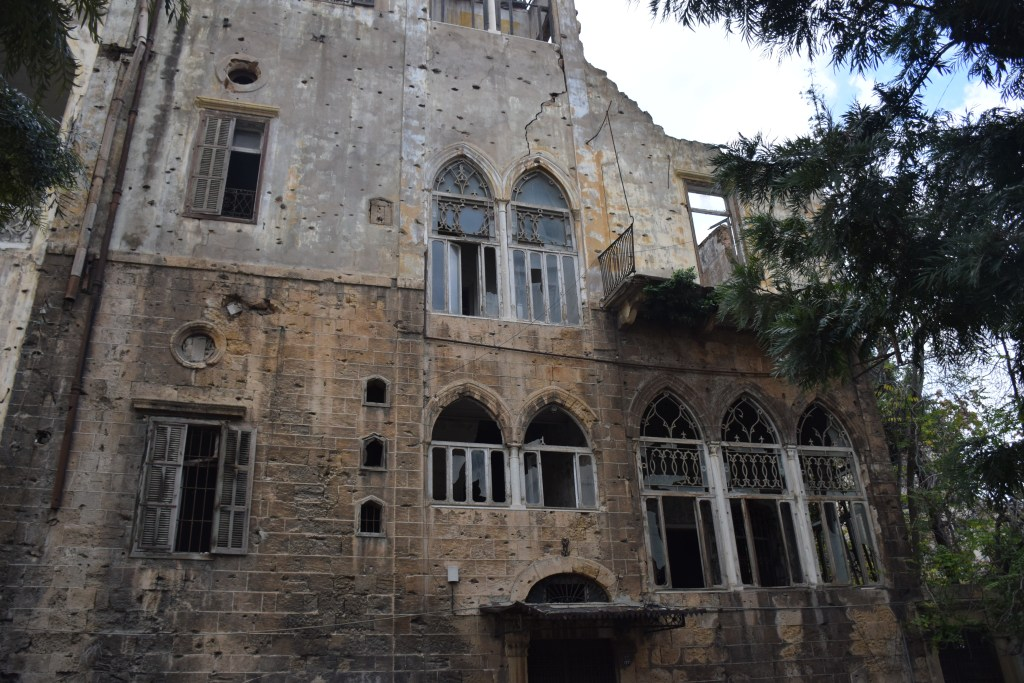 Beirut, Lebanon, architecture, old houses, buildings, mansion, inheritance