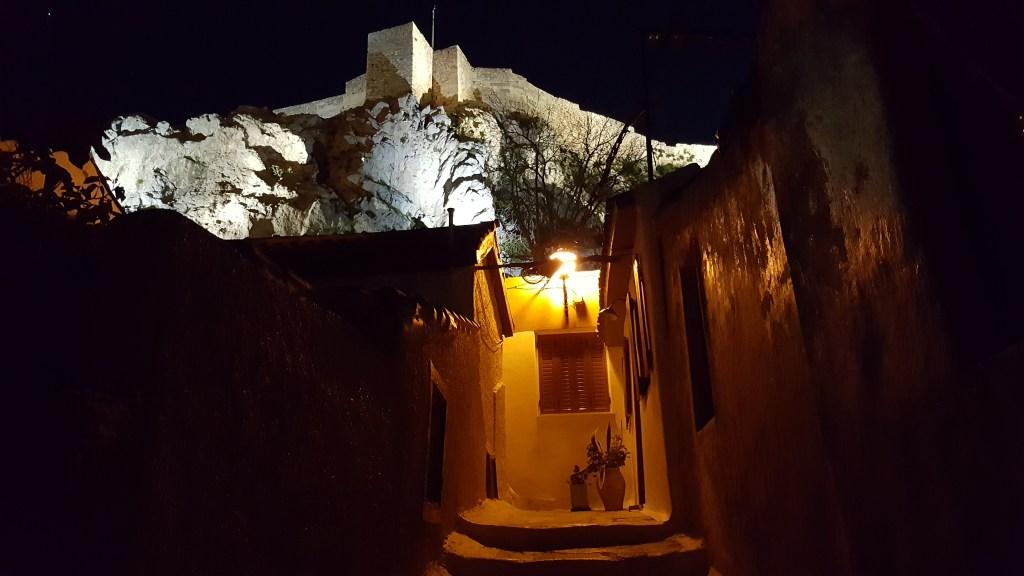 Athens, Greece, Acropolis, hill, Anafiotika, night