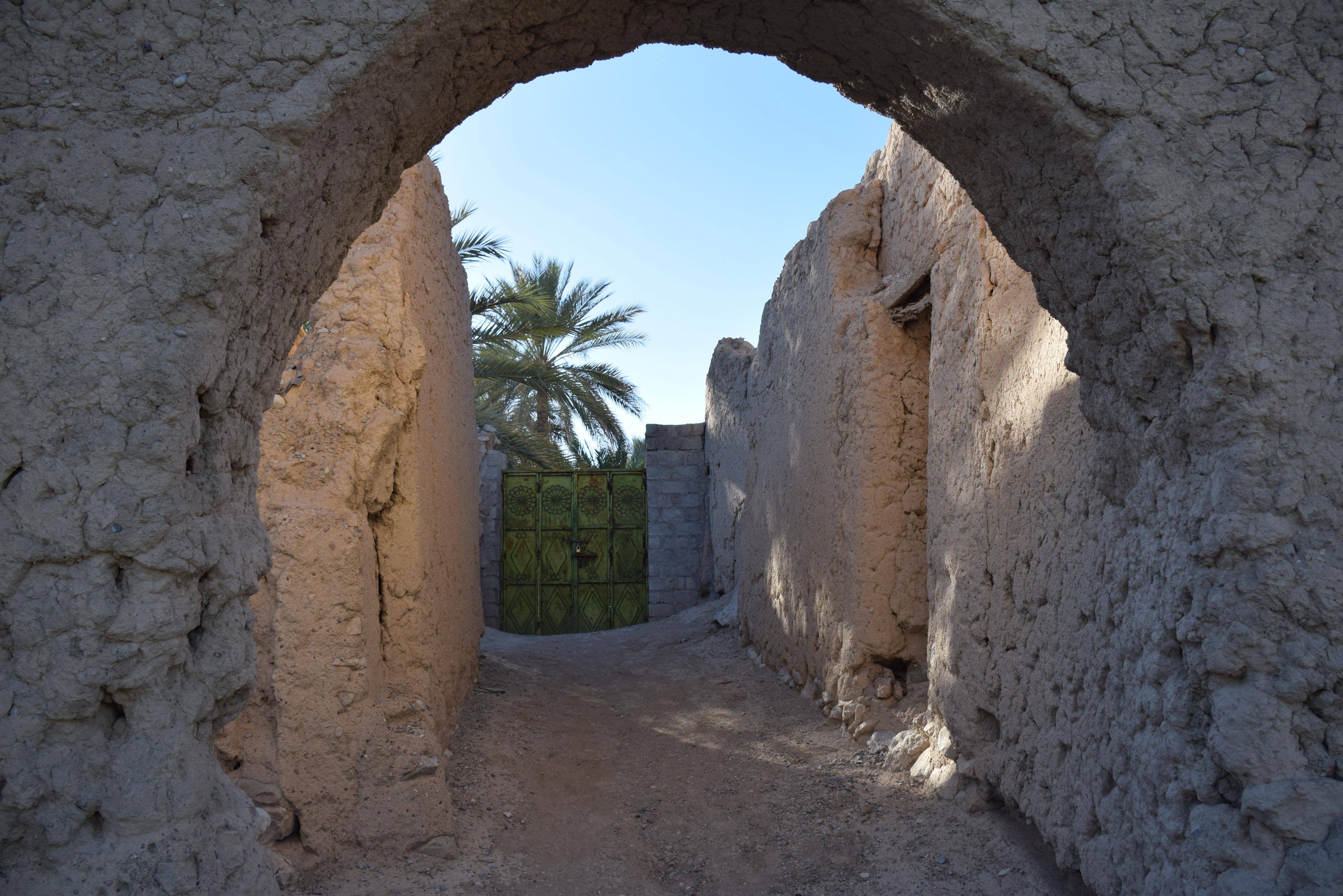 Oman, mud houses