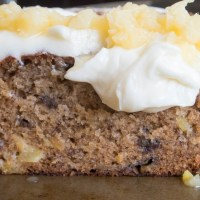Hummingbird Bread with Cream Cheese Frosting