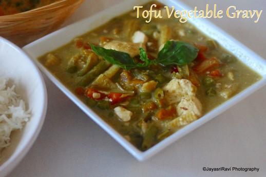 Tofu vegetable gravy