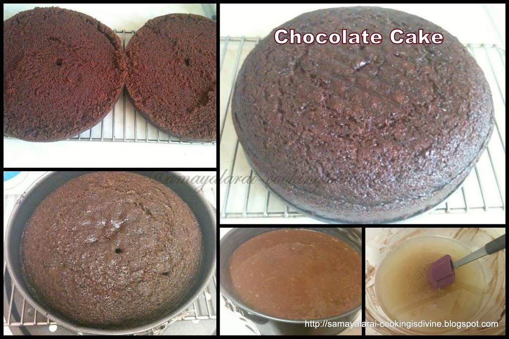Eggless Strawberry Chocolate Cake