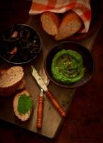 pâté, veggie pâté, spinach walnut pâté