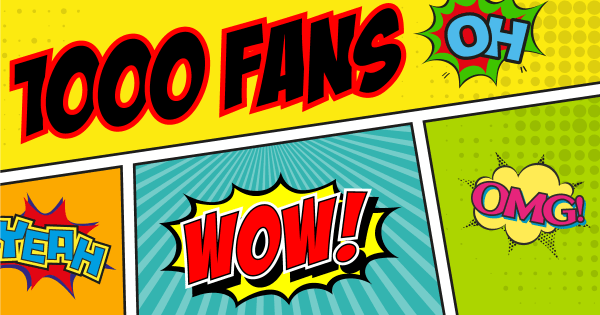 Merci à nos 1000 fans sur Facebook et à votre fidélité !