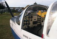 Tecnam P2002JF two seater single engine aircarft.