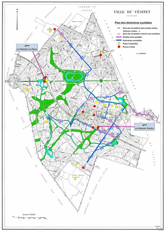 La carte du projet sur le site de la Ville du Vésinet