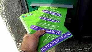 8 000 flyers ont été distribués ces jours-ci dans les boîtes aux lettres du Vésinet