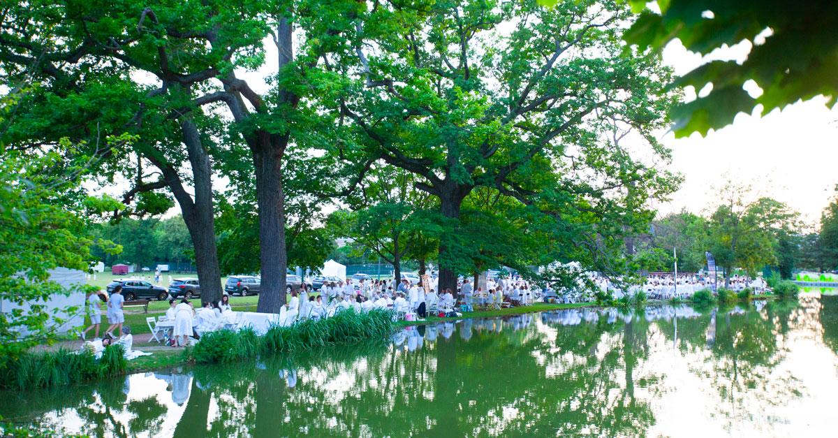 500 convives au 6e Dîner en Blanc du Vésinet organisé par