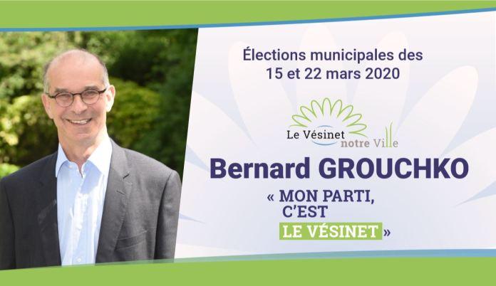 Bernard Grouchko (Le Vésinet notre Ville) - Depuis le début de mon mandat, ma priorité a été d'améliorer notre quotidien.