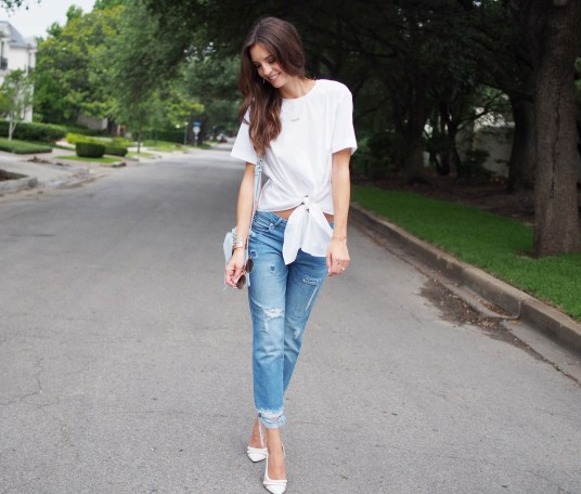 white zara top and jeans10