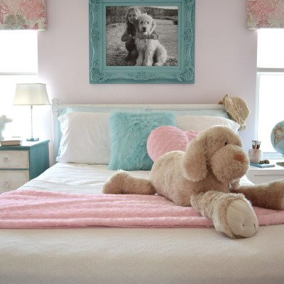 Pink, Turquoise, and Dogs, Oh my!