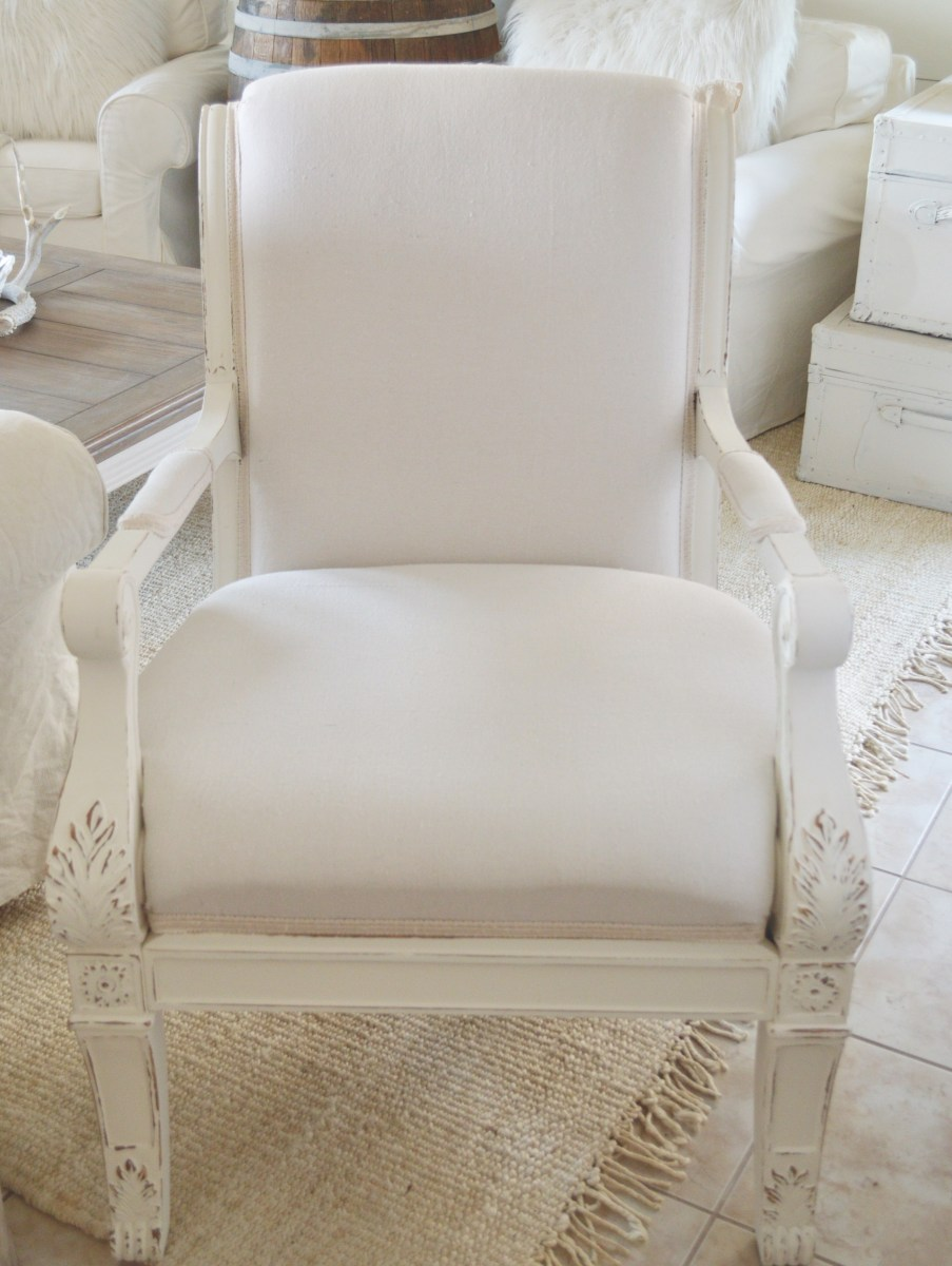 My Diy Drop Cloth Upholstered Chair