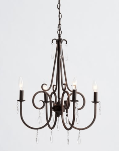 Budget friendly farmhouse style chandeliers i am amazed at the simplicity of this cute chandelier with jewels it was a lot less than i expected it to be price wise aloadofball Choice Image