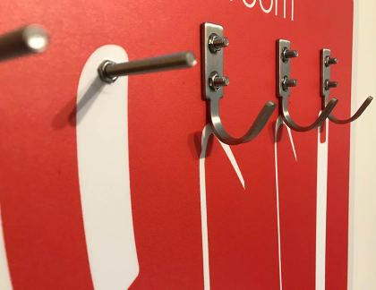 Stainless steel hooks and pegs