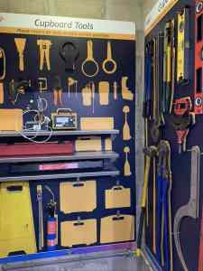 Organised cupboard Tools with Company Branded Shadows