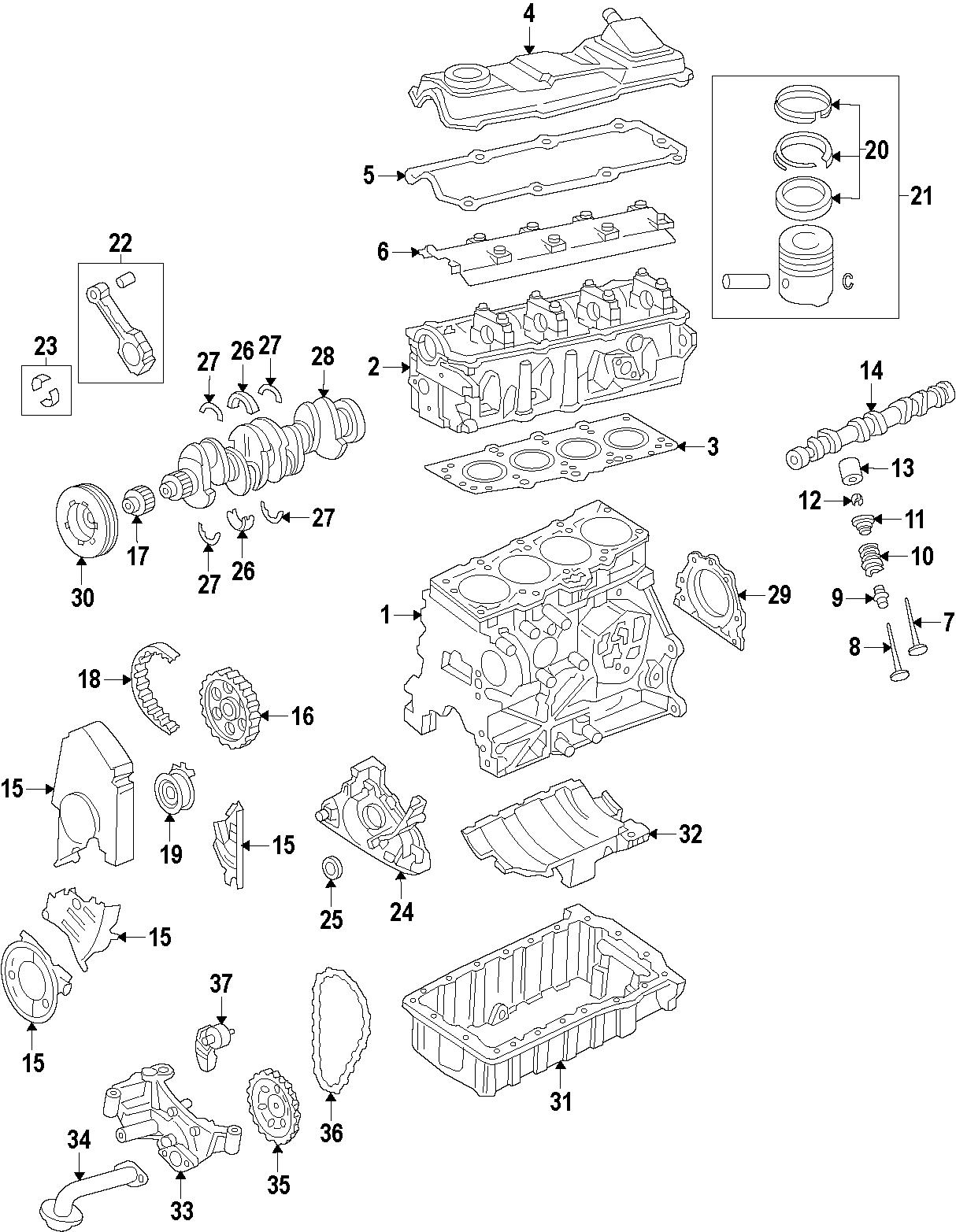 Volkswagen Golf Engine Cylinder Head Gasket Engine