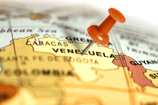 Location Venezuela. Red pin on the map._1556307671985