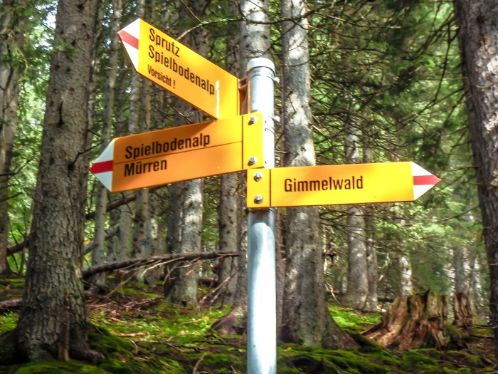 Gimmelwald, Switzerland | Hiking in the Swiss Alps | Murren | mountains | trail signs