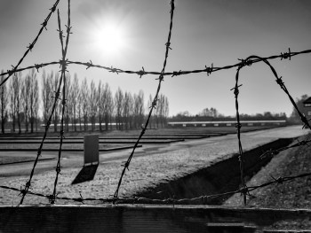 Visiting Dachau Concentration Camp memorial site |<img width=