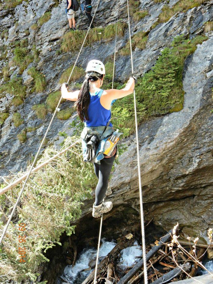 tightropes over waterfalls | Via Ferrata Murren to Gimmelwald, Switzerland: One Insane Alpine Adventure!