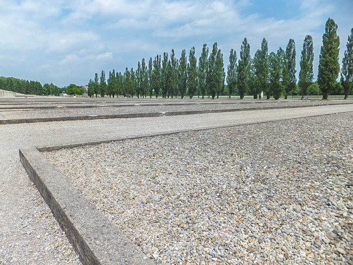 Visiting Dachau Concentration Camp memorial site | outside Munich, Germany | World War 2 | WWII | barracks barriers