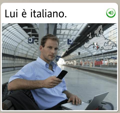 The funniest Rosetta Stone stock images: Italian, he is italian