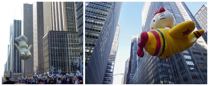 Do This, Not That // Macy's Thanksgiving Day Parade tips | PIlsbury Doughboy and Hello Kitty at the Macy's Thanksgiving Day Parade in New York City