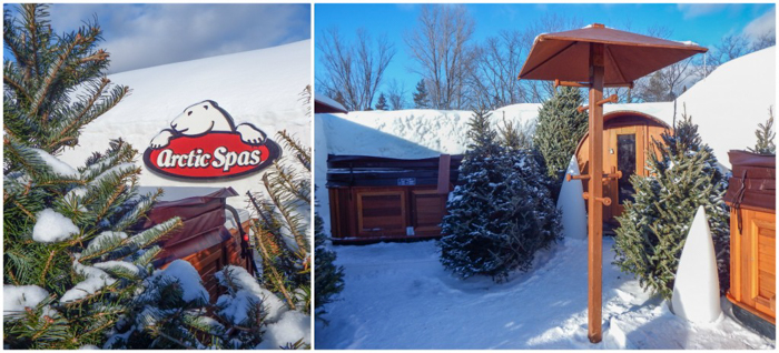 Hôtel de Glace // Straight Chillin' at Québec City's Ice Hotel   Québec City's ice hotel   The arctic spas