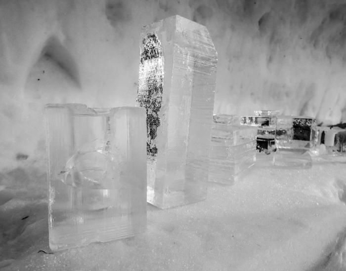 Hôtel de Glace // Straight Chillin' at Québec City's Ice Hotel   Québec City's ice hotel   ice blocks