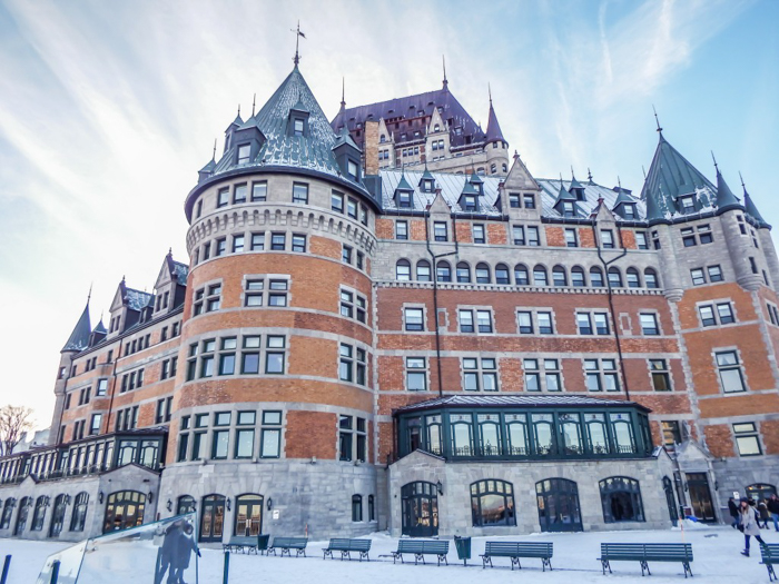 Château Frontenac & the Weekend of Spoils | Québec City's Château Frontenac in the winter