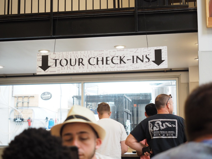 How to Tour Beer // Cigar City Brewery | Tampa, Florida | Taking a tour | check-in area