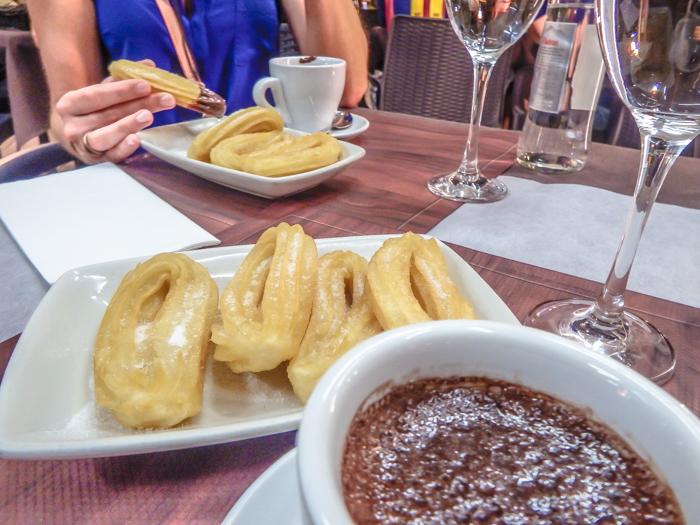 Crappy churros in Barcelona, Spain