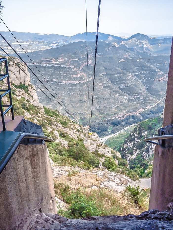 Day trip to Montserrat   4 days in Barcelona, Spain, Catalonia   Things to do in Barcelona   What to do in Barcelona   Catholic monastery   Catalunya   1 day in Montserrat   Serrated Mountains   funicular, cable car, gondola