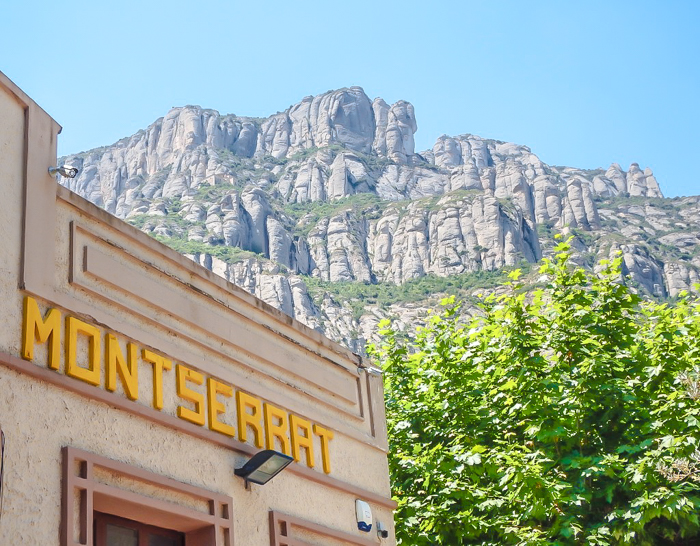 Day trip to Montserrat   4 days in Barcelona, Spain, Catalonia   Things to do in Barcelona   What to do in Barcelona   Catholic monastery   Catalunya   1 day in Montserrat   Serrated Mountains   train station