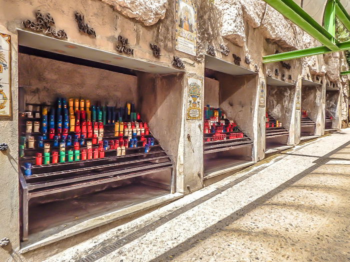 Day trip to Montserrat   4 days in Barcelona, Spain, Catalonia   Things to do in Barcelona   What to do in Barcelona   Catholic monastery   Catalunya   1 day in Montserrat   Serrated Mountains   path of candles
