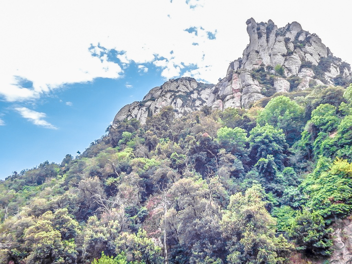 Day trip to Montserrat   4 days in Barcelona, Spain, Catalonia   Things to do in Barcelona   What to do in Barcelona   Catholic monastery   Catalunya   1 day in Montserrat   Serrated Mountains   scenery