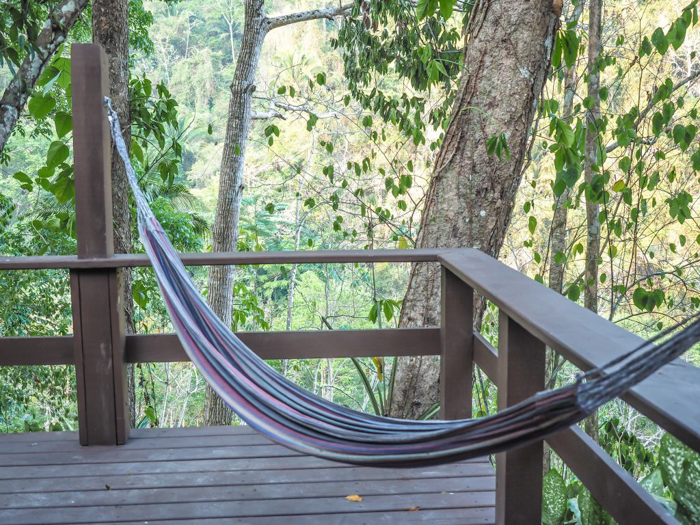 Black Rock Lodge | Belize | Hammock on our cabin deck at Black Rock Lodge in San Ignacio, Belize