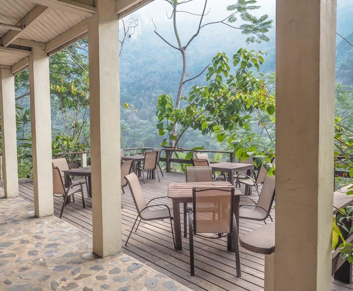Black Rock Lodge | Belize | The patio at Black Rock Lodge in San Ignacio, Belize