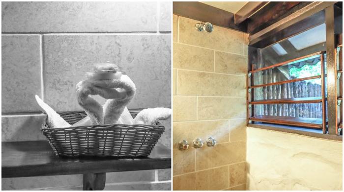 Black Rock Lodge   Belize   Cabin bathroom at Black Rock Lodge in San Ignacio, Belize