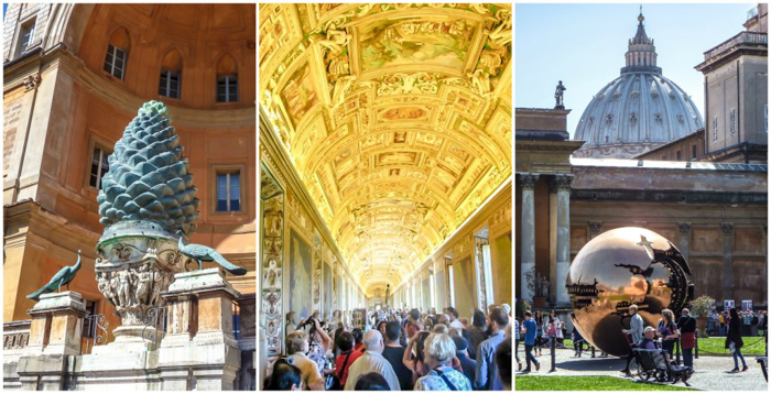 2 days in Rome, Italy (Day 1) | History in a hurry | Vatican Museum | Guided tours of Rome | What to see in Rome | Ancient Rome | Where to go in Rome | Things to do in Rome | Ancient history | vatican museum map, gold balls, pine cone