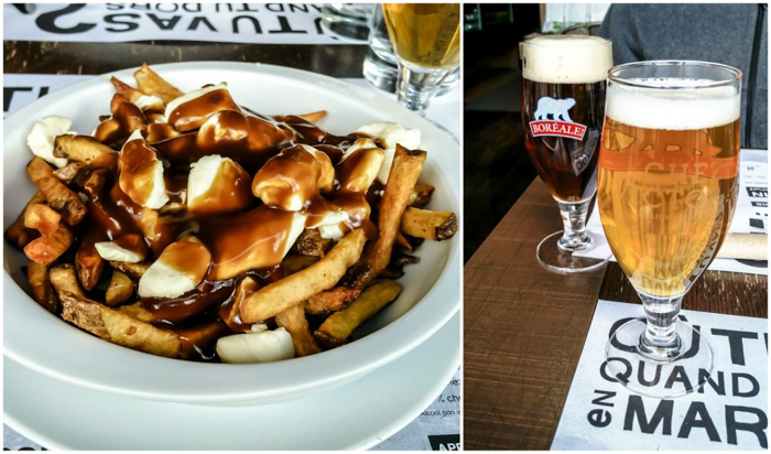 The Best Spots to Eat + Drink in Québec City | Poutine and beers at Chez Victor | Canada