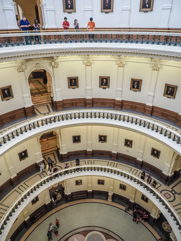 3 cities in 3 days in Texas | Dallas, Austin, San Antonio | What to do in Texas | Where to go in Texas | What to see in Texas | Dallas CityPASS | Austin, Capitol Building, floors