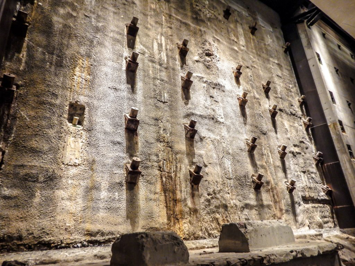 9/11 Museum and Memorial in lower Manhattan, New York City // the Slurry Wall