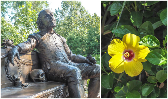 William Shakespeare sculpture at the Dallas Arboretum and Botanical Garden in Dallas, Texas // Dallas CityPASS