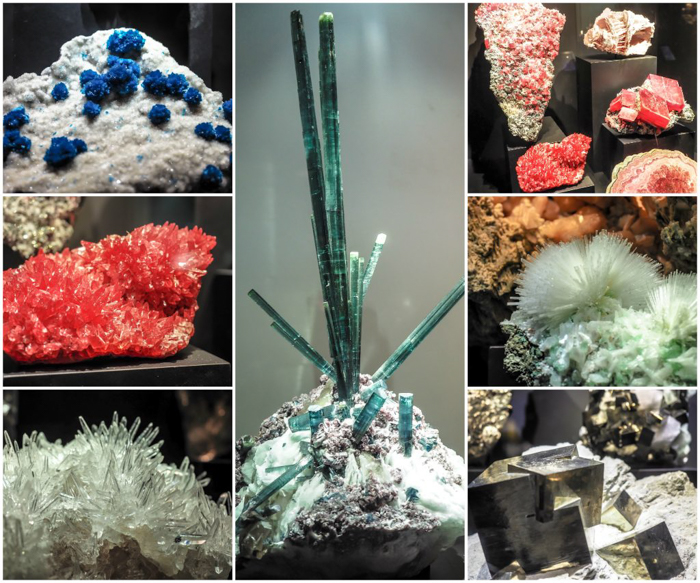 Checking out gems and minerals at the Perot Museum of Nature and Science in Dallas, Texas with the Dallas CityPASS