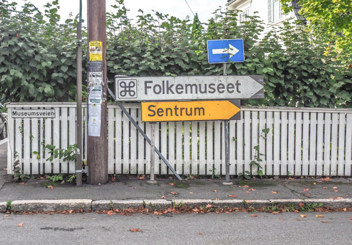 24 hours in Oslo, Norway -- Signs to the Norwegian Folk Museum